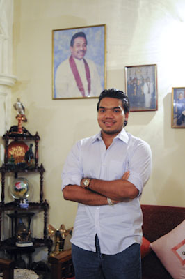 Namal Rajapaksa. Photo: Poulomi Basu